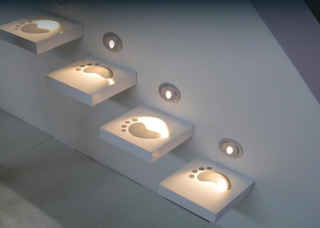 B1QR0102 B1QR0106 LED recessed wall & step light application