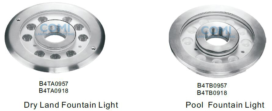B4TA09 and B4TB09 series LED fountain lights_COMI LIGHTING LIMITED