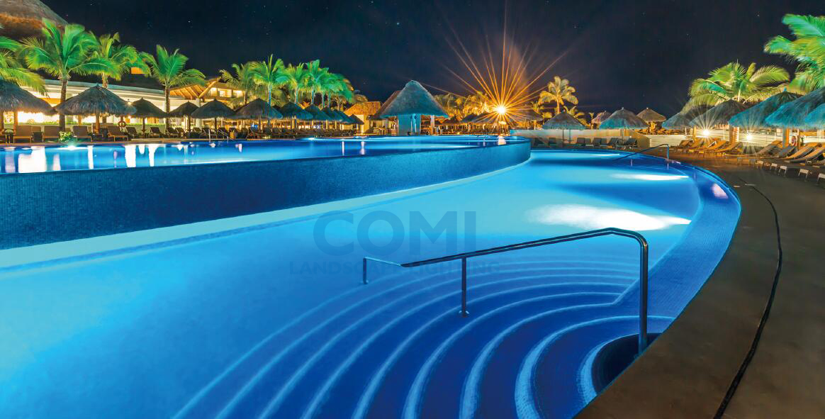 COMI Landscape lighting_IP68 Wall recessed led pool light application