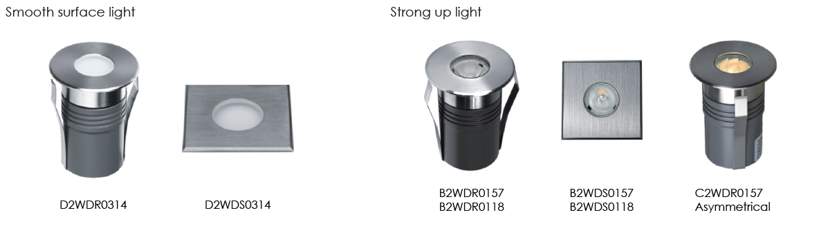 B2W C2W D2W LED Inground lights