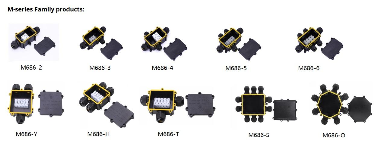 COMI Lighting M-series Junction Box IP68 Waterproof