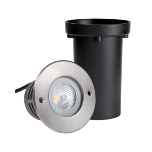 R2CDR0126 1x6W CREE COB LED Inground Lights Round Front Cover