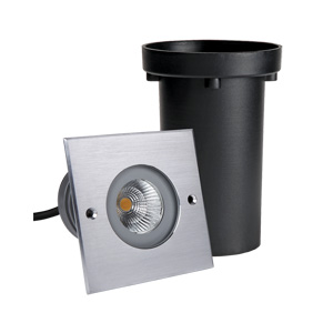 R2CDS0126 1x6W CREE COB LED Inground Lights Square Front Ring