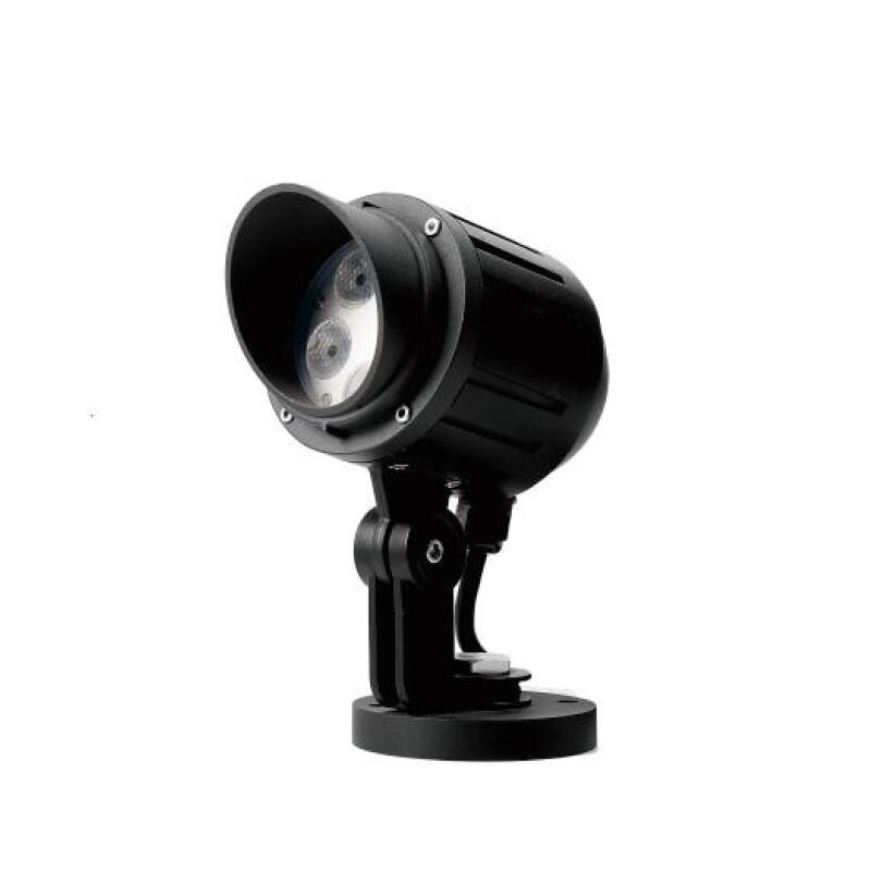 FB3BQSN0557 5x3W Mono or RGB LED Garden Spotlight with Hood
