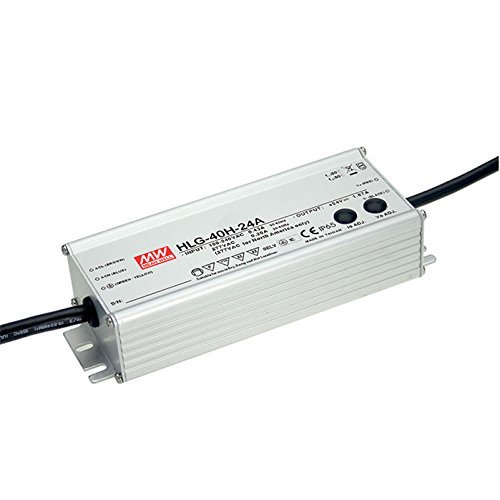 Mean Well HLG-Series IP65 or IP67 Waterproof CV + CC LED Driver