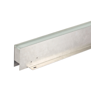 Frosted Glass 316 Stainless Steel Seamless Inground Linear Lights