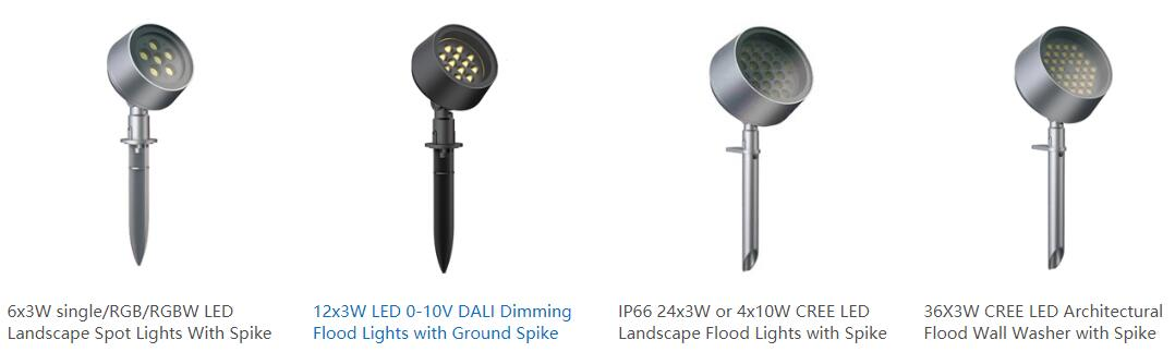 IP65 LED spot light or flood lights with ground spike